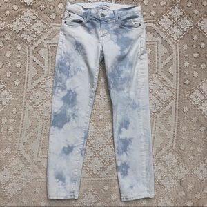 7 For All Mankind Bleach Out Skinny Leg Jeans